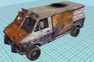 Terminator Salvation Wrecked Van