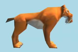 Diego tiger, animal, animals, cartoon, lowpoly