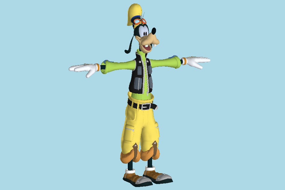 Kingdom Hearts 2 - Goofy 3d model