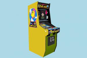 Pac-Man Arcade Machine arcade-machine, pac-man, arcade, machine, game, play, station, amusement, entertainment, fun, cabaret, pastime