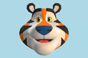 Tony Head head, face, tiger, animal, cartoon