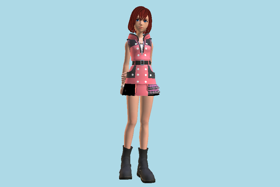 Kingdom Hearts 3 - Kairi Girl 3d model