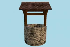 Well well, waterwheel, water, pavilion, country, farm
