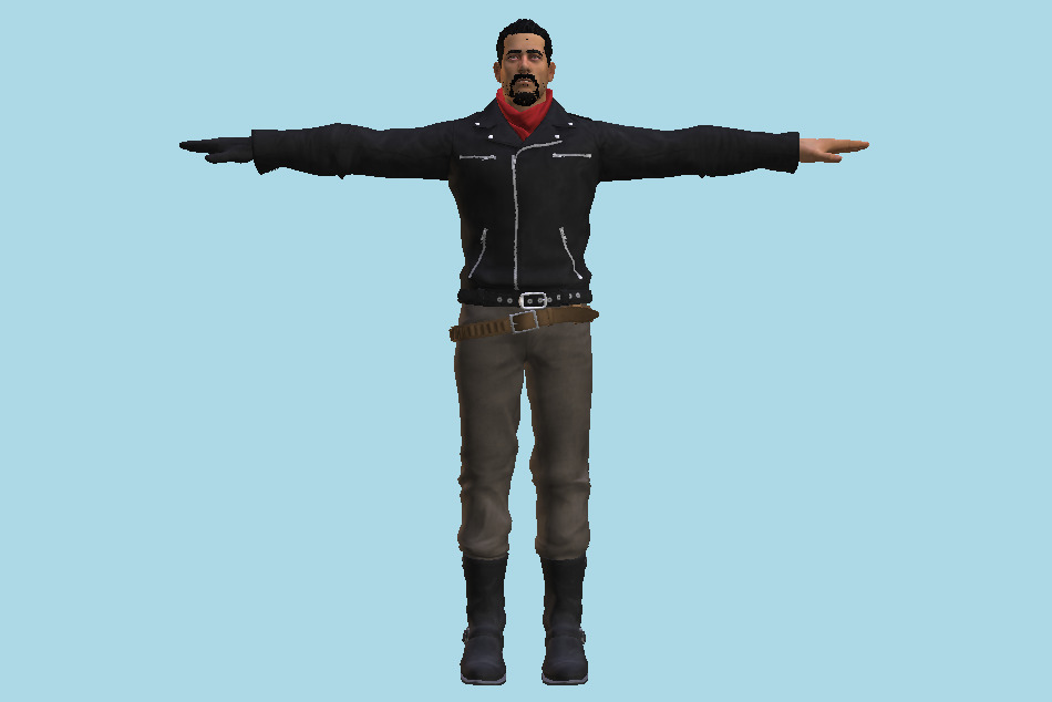 Tekken 7 Negan Default Jacket 3d model