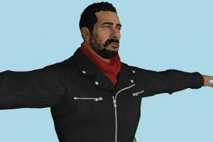 Tekken 7 Negan 3d model