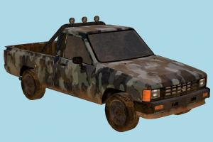 Pickup Car pickup, truck, car, vehicle, carriage, military, rust, dust, dirt, dirty, old