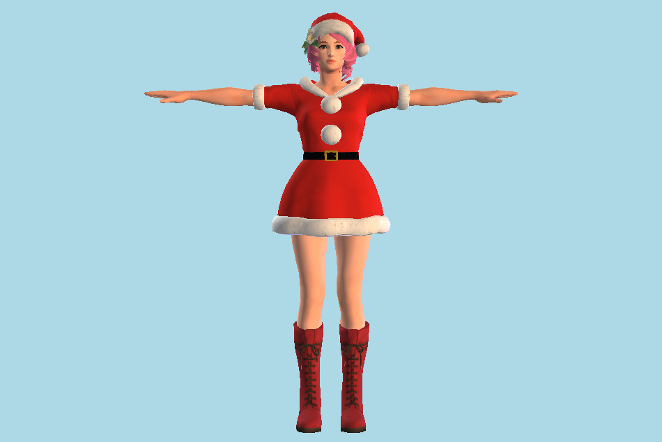 Tekken 7 Alisa - Santa Claus Girl 3d model