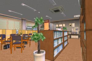 Shujin Library library, bsp, room, school, hall, university, building, build, structure