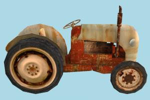 Tractor Low-poly tractor, farm, bulldozer, truck, vehicle, low-poly