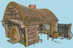 Blacksmith Cottage hut, workshop, cottage, shanty, shack, cabin, small, house, home, farm, country, village, building, build, barn, residence, domicile, structure