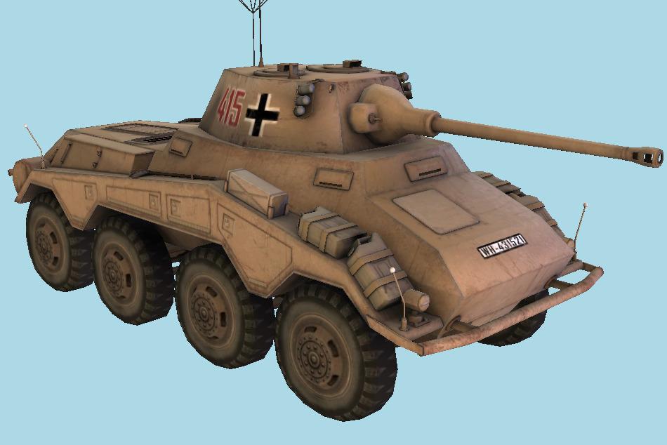 Puma Tank 3D Model