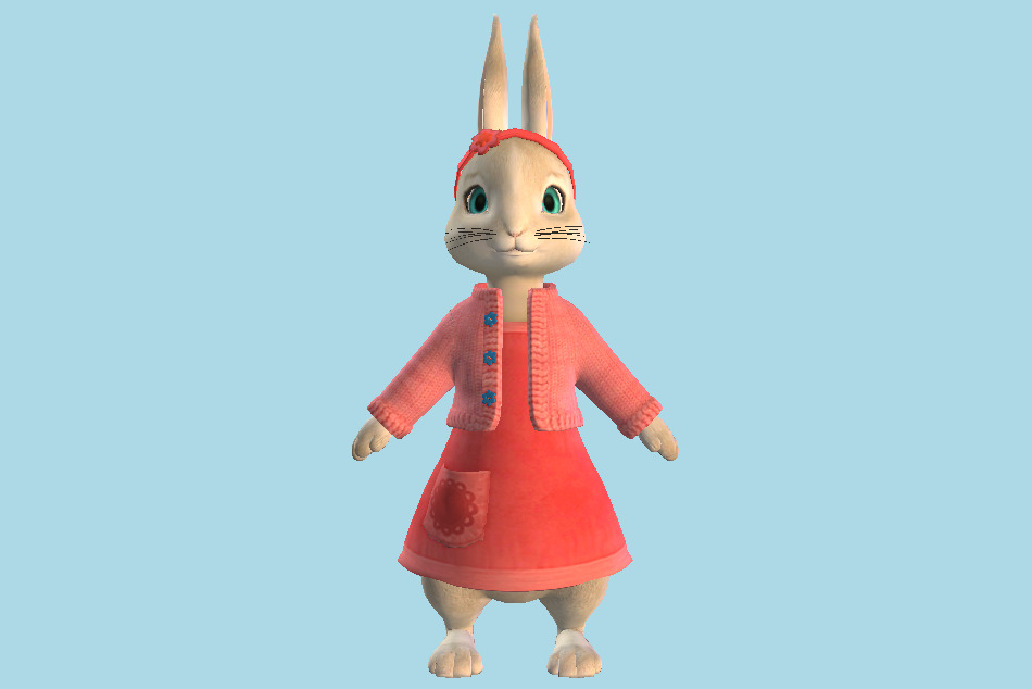 Peter Rabbit - Lili 3d model