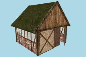 Barn House barn, farm, house, town, country, home, building, build, residence, domicile, structure