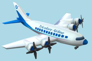 Plane airbus, airliner, plane, airplane, aircraft, air, liner, craft, vessel, lowpoly