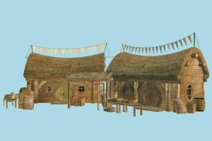 Country House barn, farm, hut, cottage, house, town, country, village, city, home, building, build, residence, domicile, structure