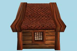 Cottage hut, cottage, shanty, shack, small, house, home, farm, country, cartoon