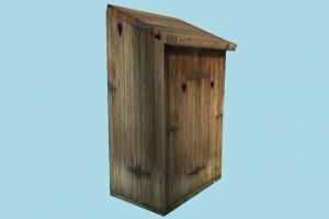 Cabin cabinet, cabin, summer, small, house, build, wooden, beach, structure, lowpoly