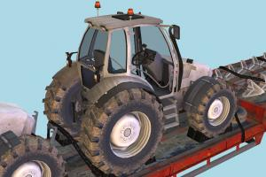 Overweight Trailer with Tractors