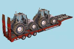 Overweight Trailer trailer, tractor, truck, constructor, vehicle, carriage, farm