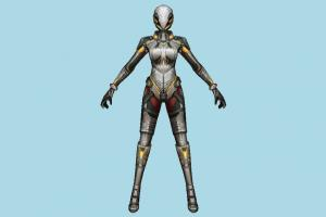 Scifi Woman scifi, sci-fi, robot, mesh, super, woman, wonder, girl, female, people, character