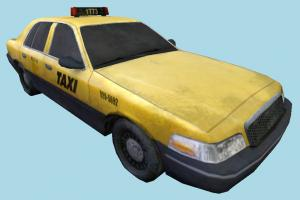 Taxi Car taxi, car, vehicle, truck, carriage, transport, transit, metro, low-poly