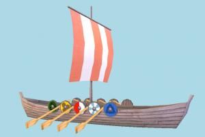 Viking Ship viking, galleon, pirate-ship, boat, sailboat, pirate, ship, watercraft, vessel, wooden, maritime, lowpoly