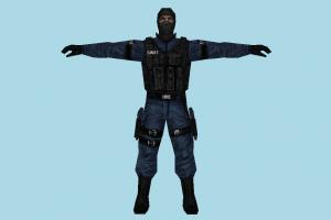 Soilder army-man, soilder, army, diver, man, male, people, human, character, lowpoly