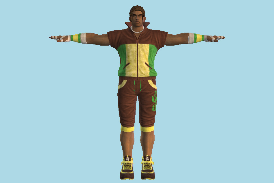 Tekken 7 - Eddy Gordo Dancer Outfit 3d model