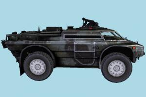 Armored Security Vehicle Tank
