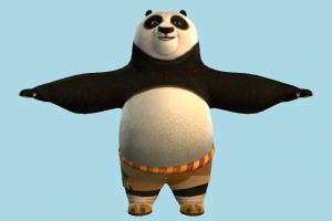 Panda panda, animal-character, bear, character, animal, animals, cartoon