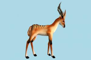 Gazelle deer, gazelle, elk, animal, animals, wild, nature, mammal, ruminant, zoology, predator, prey, lowpoly