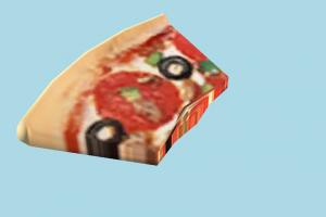 Pizza Eaten pizza, food, foods, cook, lowpoly