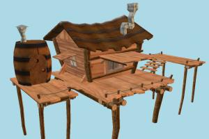 Tree House garden, tree, chair, table, house, farm, country, wooden, wood, home, building, build, residence, domicile, structure
