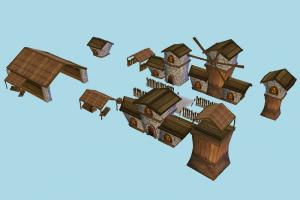 Village House village, country, city, house, farm, wooden, wood, home, building, build, residence, domicile, structure