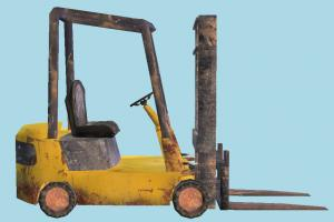 ForkLift Low-poly forklift, fork-lift, fork-truck, construction, truck, vehicle, carriage, wagon, low-poly