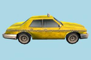 Taxi Low-poly taxi, car, truck, vehicle, carriage, transport, transit, low-poly