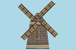Windmill 2D windmill, mill, wind, country, build, 2d, structure