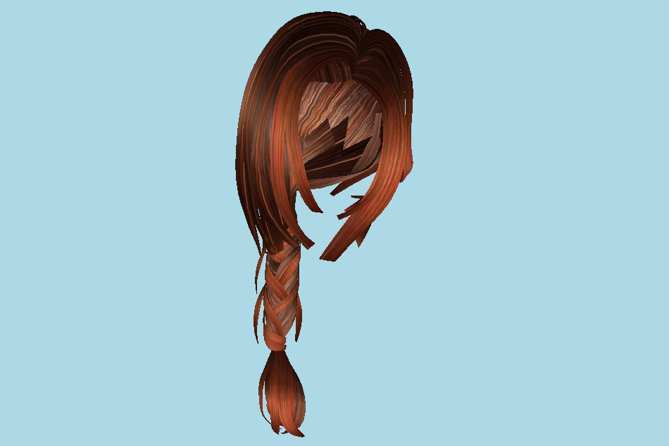 Woman Hairstyle 3d model