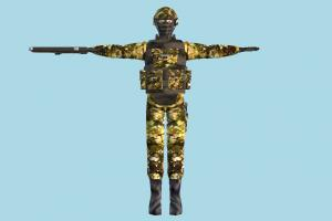 Soldier army-man, soldier, army, man, male, people, human, character