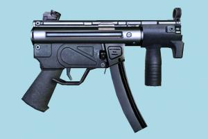 Submachine submachine, auto-gun, pistol, handgun, weapon, gun, firearm, arm