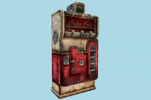 Nuka Cola Machine cola, coca-cola, machine, old, damaged, broken, drinks