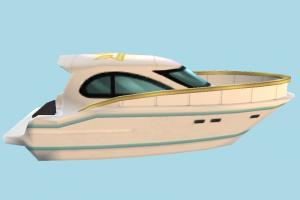 Yacht yacht, boat, sailboat, watercraft, ship, vessel, sail, sea, maritime, cartoon, lowpoly