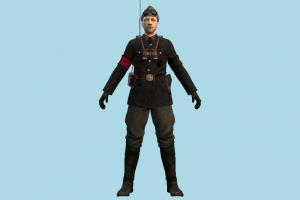 Nazi Signaller officer, commandos, army-man, army, man, soldier, military, male, people, human, intelligence, character