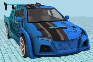 Speed Car High-poly