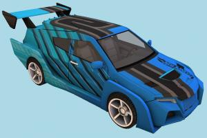 Speed Car racing, race, car, speed, fast, vehicle, truck, carriage, high-poly