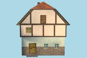 House Building house, home, building, build, apartment, flat, residence, domicile, structure, lowpoly