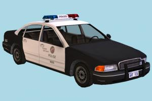 Police Car police-car, police, car, emergency, vehicle, truck, carriage, low-poly