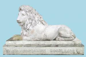 Lion Statue statue, sculpture, art, stone, marble, animal, animals, zoology, zoo, lion