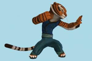 Tigress tiger, Kung-Fu, animal-character, character, animal, animals, cartoon