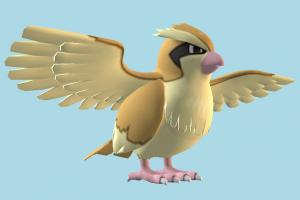 Bird owl, crow, falcon, bird, air-creature, pokemon, cartoon